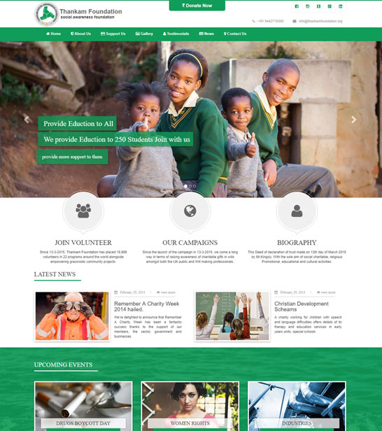 Foundation Charity Html Website Template