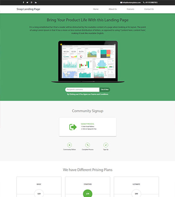 Product Launch Free HTML Website Templates