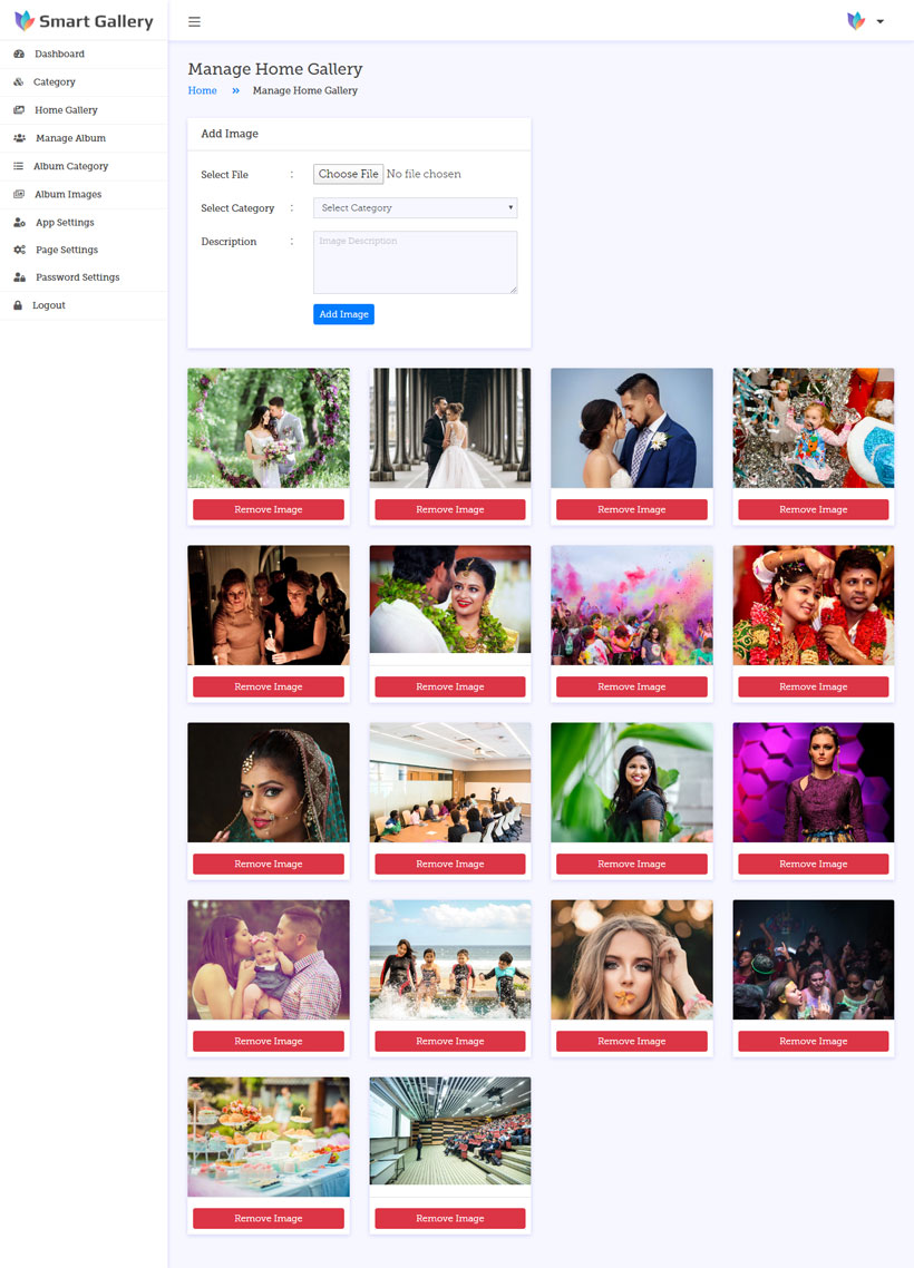 Image Gallery PHP Script